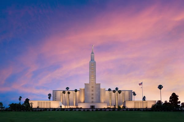Los Angeles Temple - Morning Sky