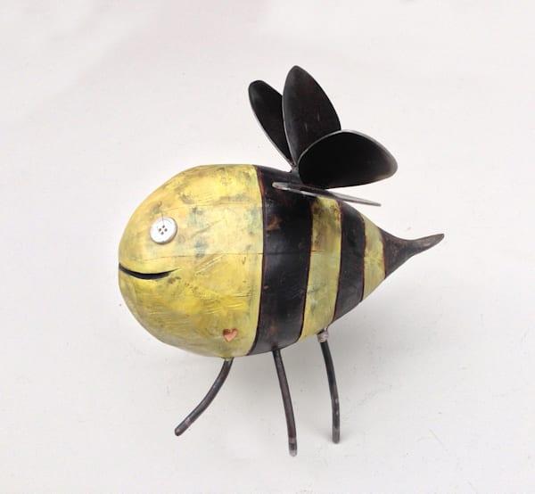 Happy Bee Sculpture