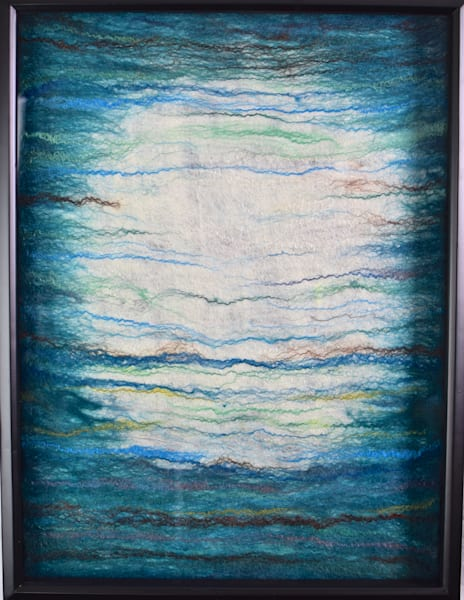 Intimate Full Moon Art | Felting Art