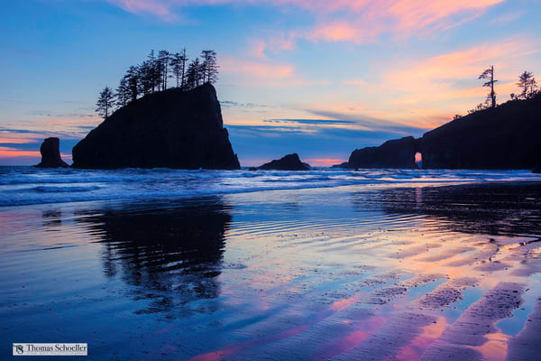 A world class sunset from Olympic National Park's Second Beach/Fine art nature scenic landscape prints available to purchase