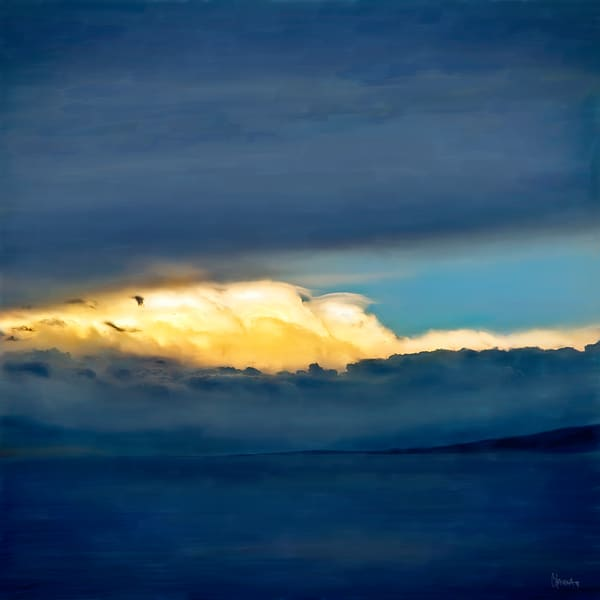 God Moving Over the Water painting by Christina Stefani – Stefani Fine Art