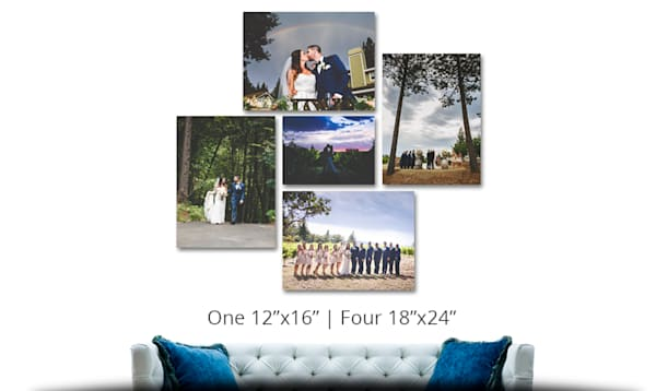 One 12 X 16 | Four 18 X 24 | Canvas Cluster | Canvas Prints