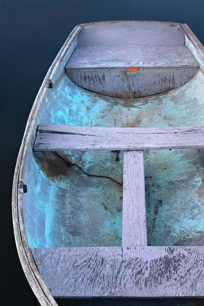 """Annisquam Rowboat II"" Fine Art, Vertical Cape Ann Boat Photography Print"