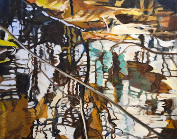 Reflection Detail by Cathy Groulx | SavvyArt Market original painting