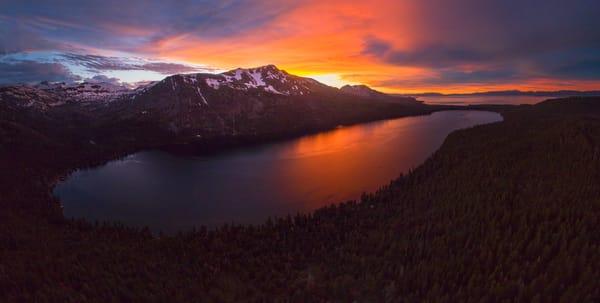 Fallen Leaf Lake Sunset Aerial 2 6 18 Photography Art | Brad Scott Visuals