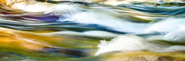 art photograph abstract panorama of Hancock Branch river