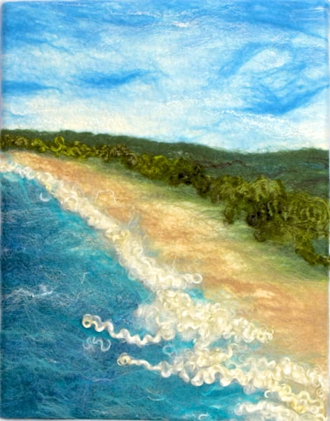Beach Walk Art | FeltinArt