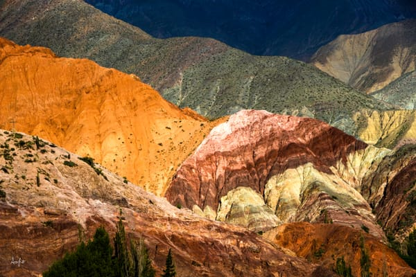 Multi color mineral hills of purmamarca, a fine art photograph image