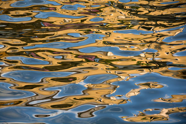 Water ripples on Malacca canal in a fine art photograph