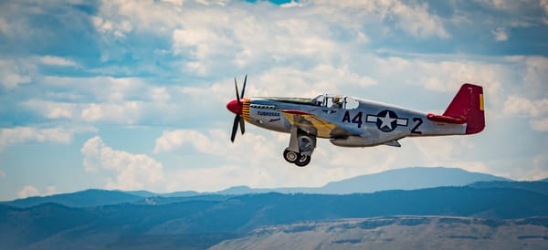Photo of Tuskegee Airmen P-51 Mustang Low Flyby at Colorado Airshow