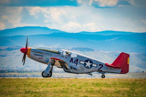 Photograph of Rare Restored Tuskegee Airmen P-51C Mustang at Colorado Airshow