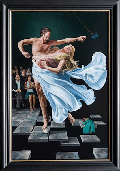Two to Tango divorce painting | Kevin Grass Fine Art