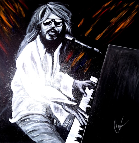 Leon Russell Original Art Painting by Corina Bakke