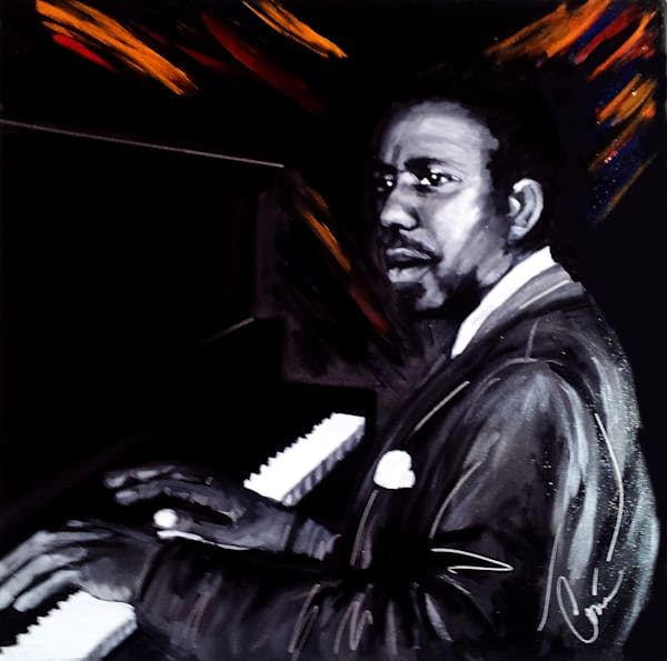 Thelonious Monk Original Art Painting by Corina Bakke