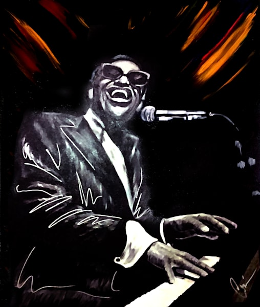 ray charles original art painting