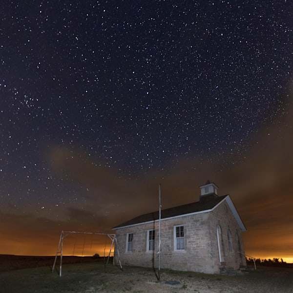 Buy a metal print photograph of Big Dipper over Tallgrass Prairie by Mike Jensen