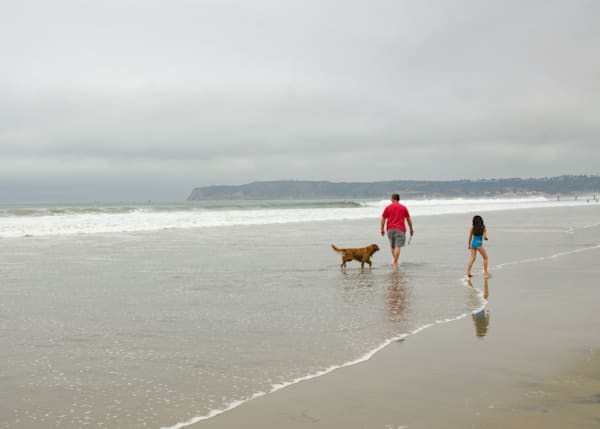 Dad, Daughter, and Dog | Fine Art Travel Photograph