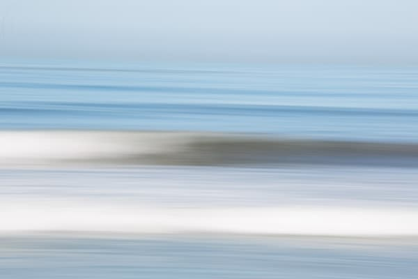 Beautiful Blurred Ocean Fine Art Print