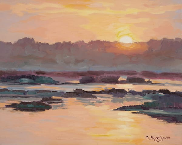 Sunrise On Kings Bay| Contemporary Landscapes| Gordon Meggison IV