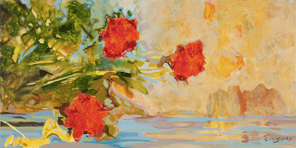 Summer Flowers | Abstract Acrylic Mixed Media | Gordon Meggison IV