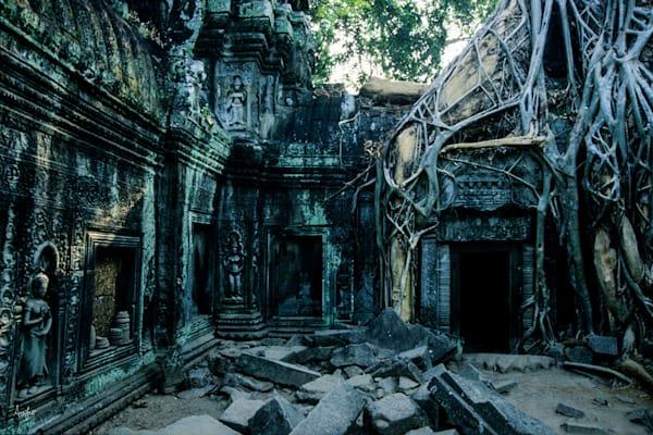 Fine art photograph of Ta Prhom temple.