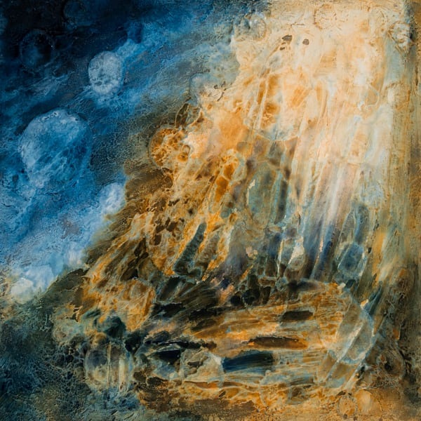 Winter Moon Rising | Painting by Lucy Ghelfi | For Sale