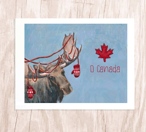 O Canada Moose: Greeting Card
