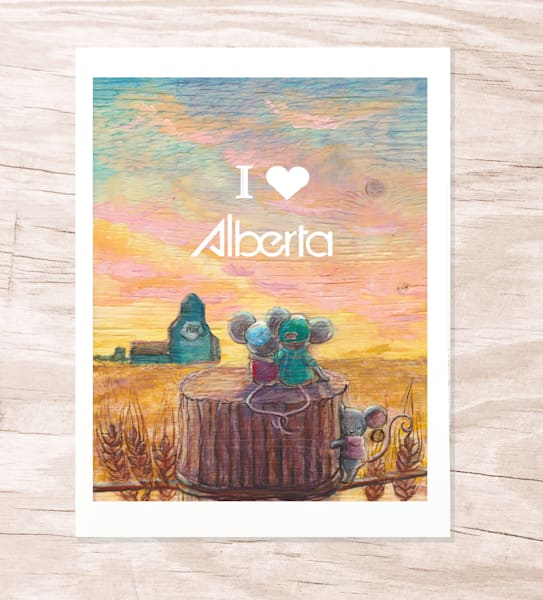 Alberta Prairie Greeting Card | Jenny Dale Designs