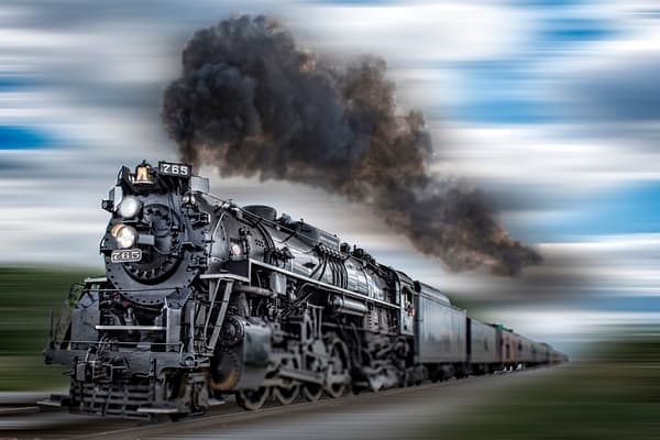Rocket steam train - 1040 steam engine - fine art photography