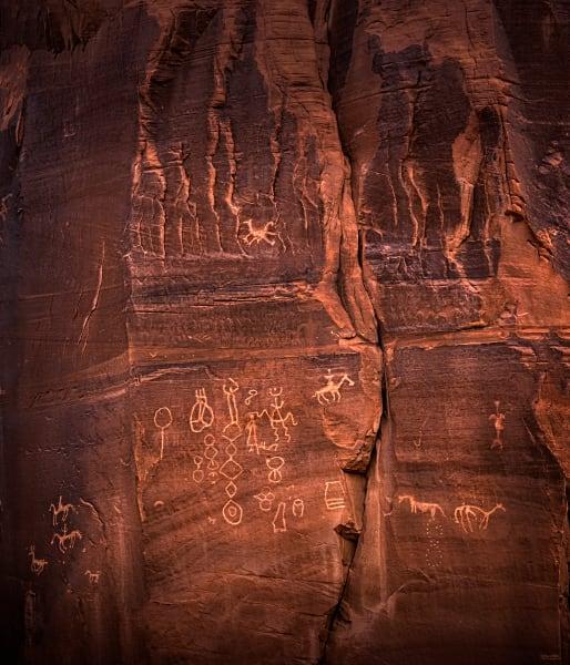Red Rock Petroglyphs, d'Ellis Photographic Art photographs, Elsa