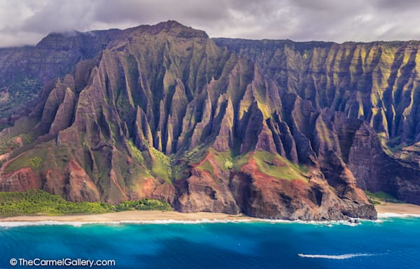 Aerial photo of NaPali Coast