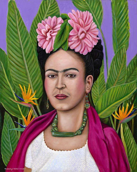 Frida In Floral Art | Vasquez Art