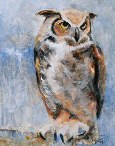 Silence A Fine Art Bird Painting by Pacific Northwest Artist Sarah B Hansen