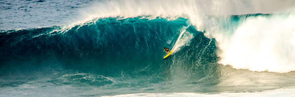 Purchase bold fine art photographs of courageous surfing!