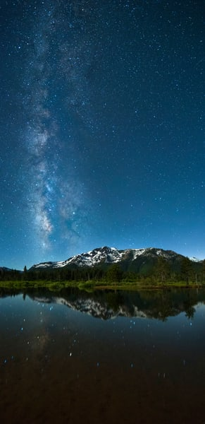 Milkyway Over Mt Tallac Fine Art Photography Print by Brad Scott