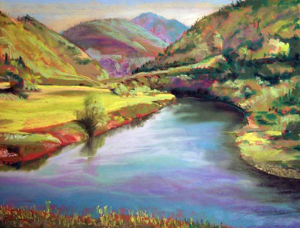 landscape painting nehalem river highway 53