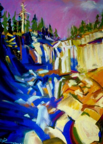 landscape painting central oregon paulina falls