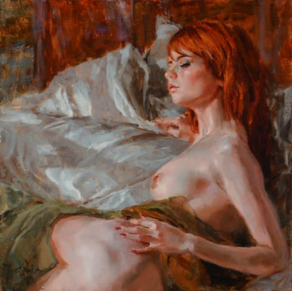 """Silky"" original oil by Eric Wallis"