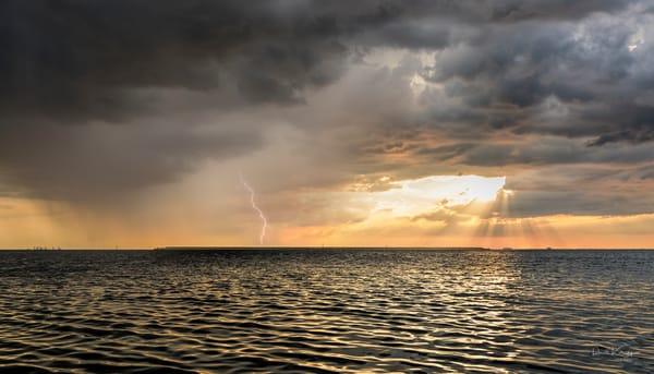 Sunset City Storm Photography Art | Ronald Kotinsky Photography