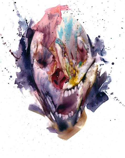 A Colorful Abyss- watercolor portraiture- by Akira Beard