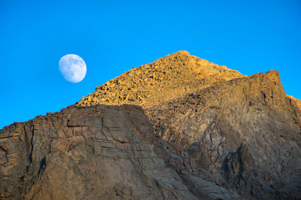 Moonrise over the flank of Storm Peak 6852
