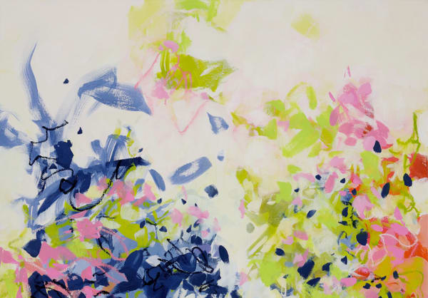 Growing Up Side By Side, Colorful Abstract Print by Cameron Schmitz