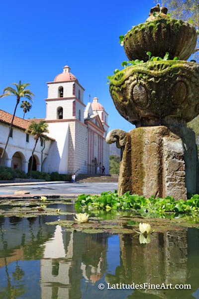 """Mission Fountain Reflection"", Santa Barbara"