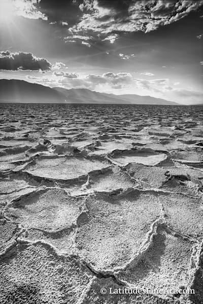 """Salt Flats of Death Valley"" BW"