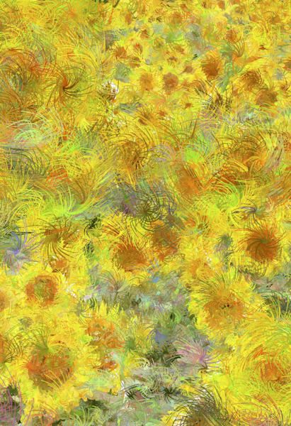 Colorful Sunflower art as prints, canvas and posters.