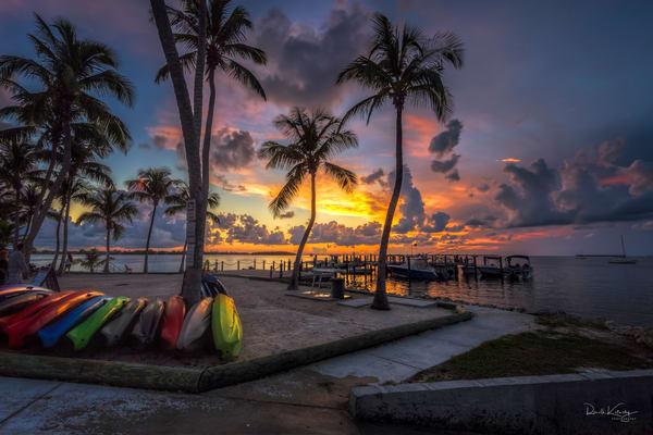 Key Largo Kayak Sunset from Key Largo.
