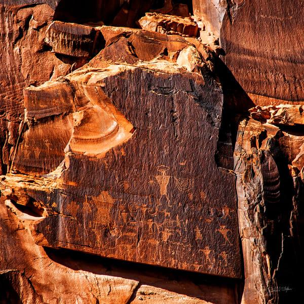 Potash Petroglyphs photograph by Richard Stefani – Stefani Fine Art