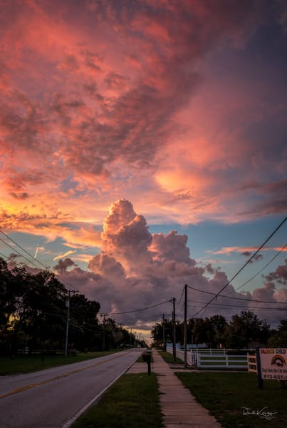 Pink cotton candy clouds decorate the sky in this wonderful photographic art work | photographs art