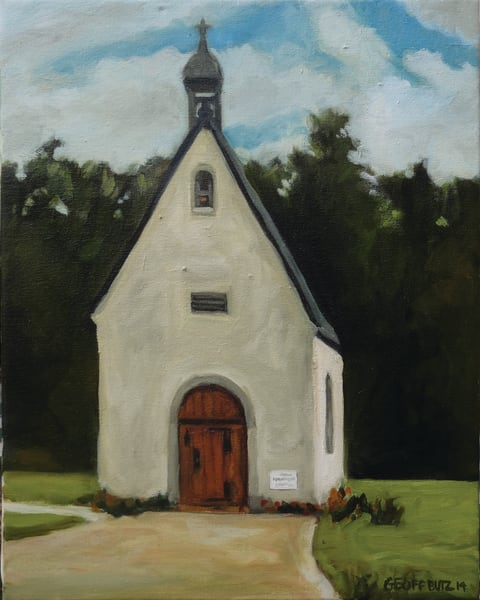 Schoenstatt Shrine Waukesha In Spring Art Print Art | Geoffrey Butz Art & Design Inc
