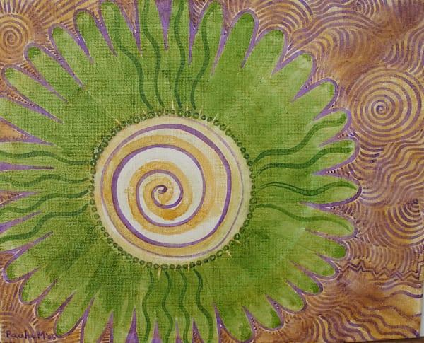 Green Flower Spiral